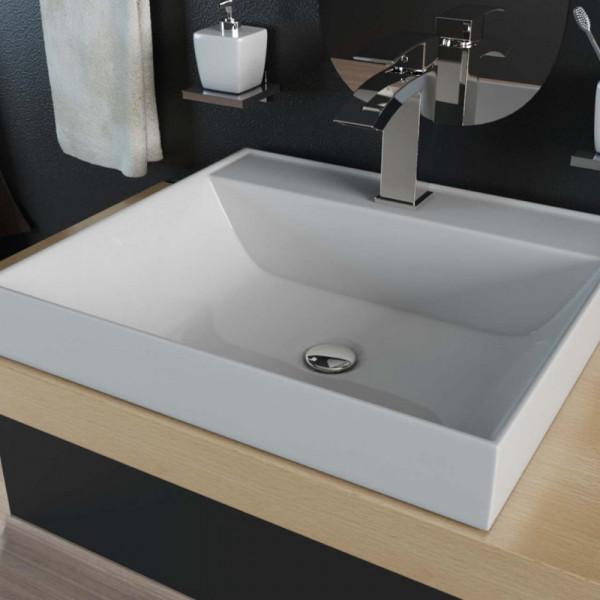 Waschbecken design eckig  Mineralguss-Waschbecken KB-M50, 99,90 €