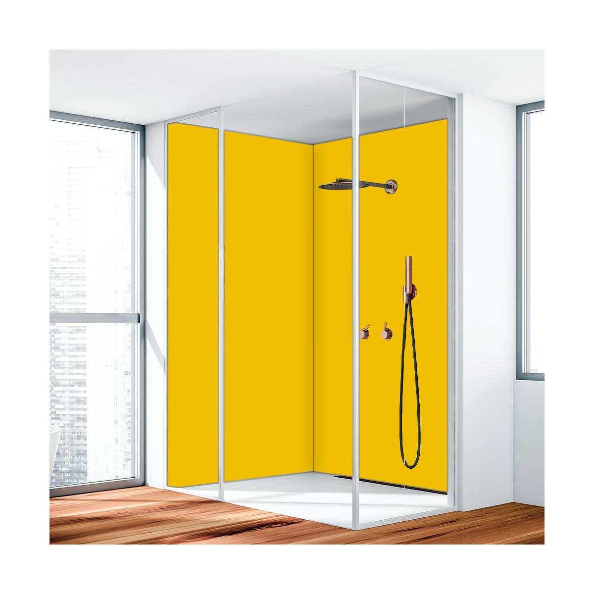 duschr ckwand aluverbund gelb 1023 119 90. Black Bedroom Furniture Sets. Home Design Ideas