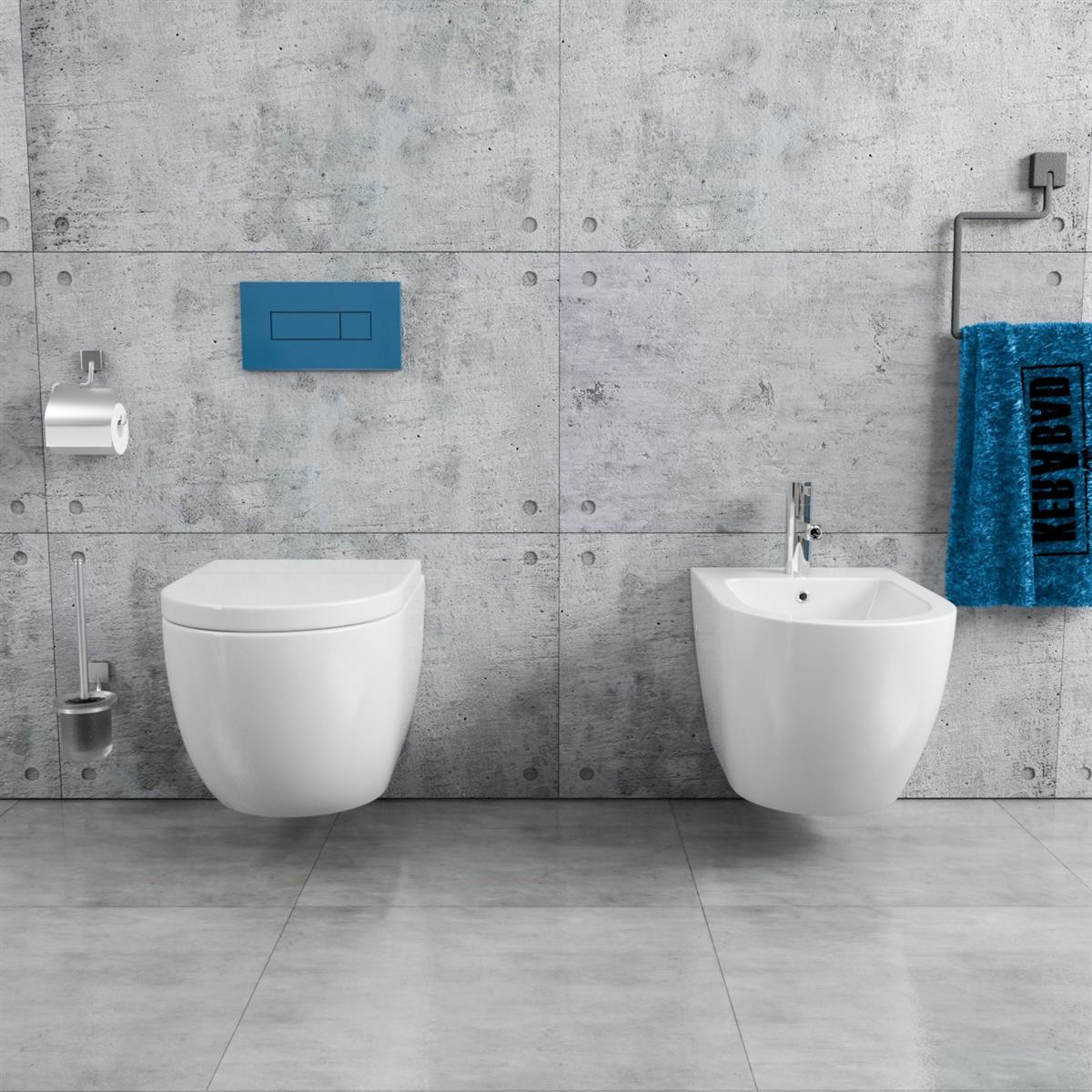 h nge wc bidet randlos kb76 1 set 299 90. Black Bedroom Furniture Sets. Home Design Ideas