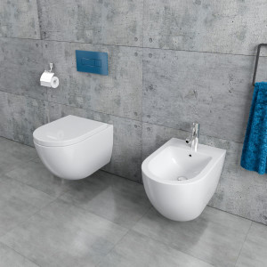 Hänge-WC + Bidet Randlos KB76-1-SET