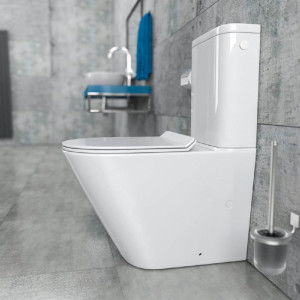 Stand-WC-Kombination randlos KB6093B Links am Spülkasten