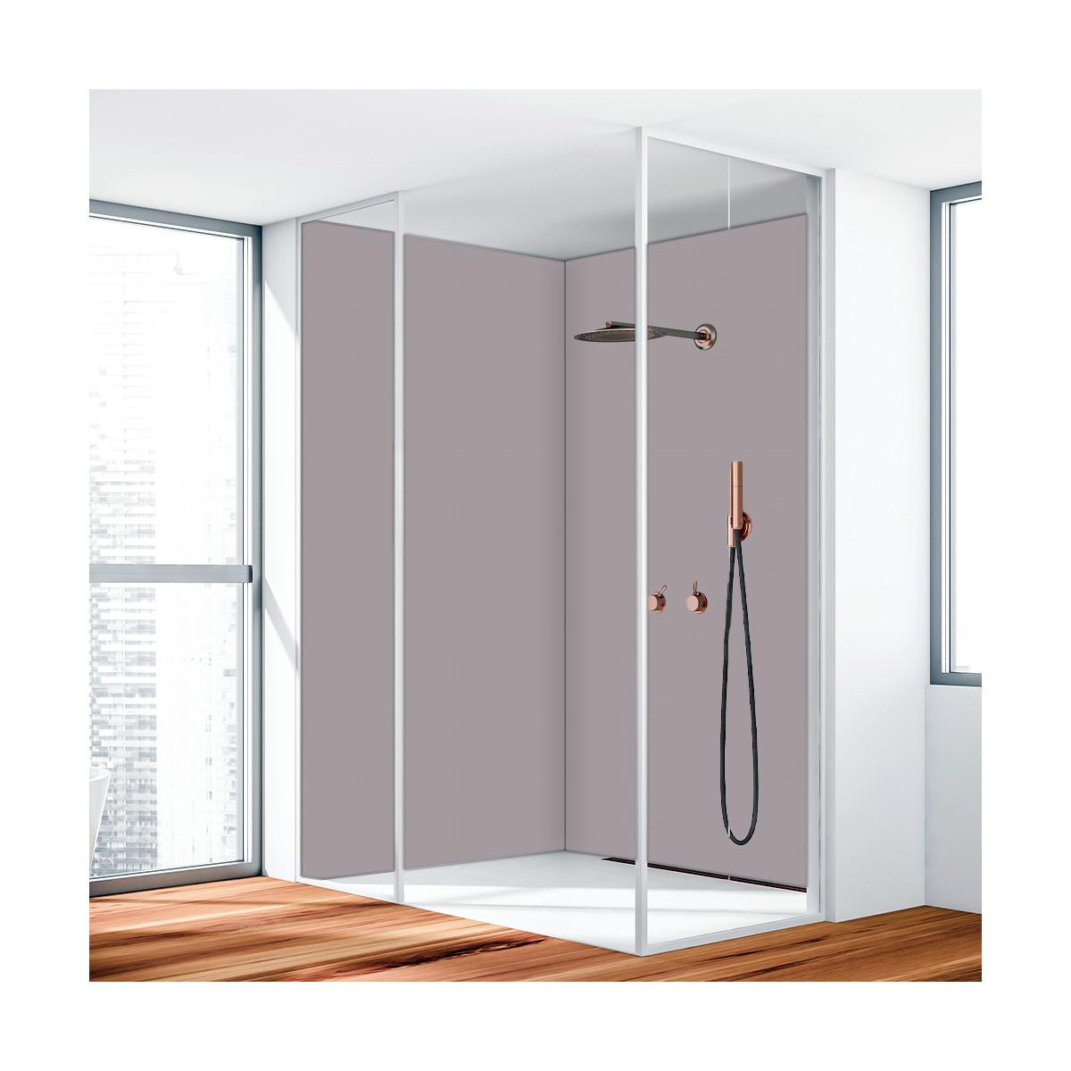 duschr ckwand aluverbund grau 7042 119 90. Black Bedroom Furniture Sets. Home Design Ideas